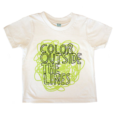 Color Outside The Lines Toddler T Shirt - Organic (green/natural) - moozega  - 1