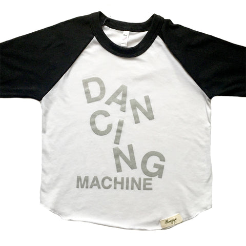 Dancing Machine 3/4 Sleeve Raglan (Silver/Black/White)