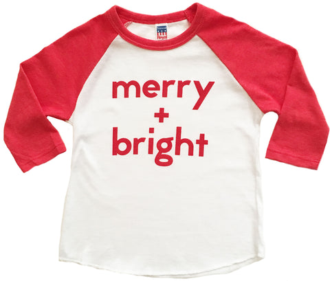 Merry + Bright 3/4 Sleeve Raglan