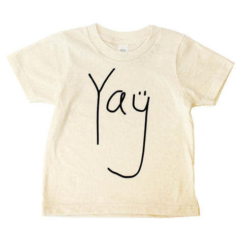 Yay T Shirt - Organic (black/natural) - moozega