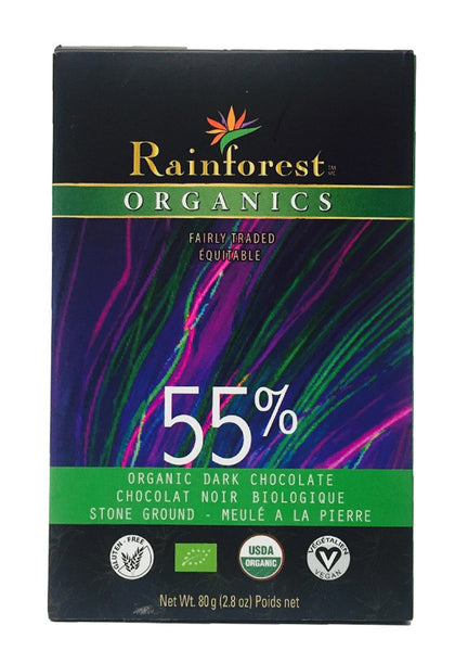 Certified Organic Peruvian Chocolate Bar - 55% Cacao - Organic Rainforest Company