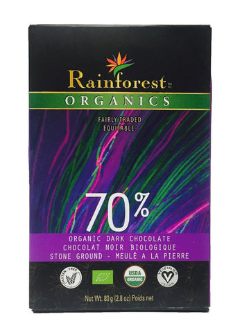 Certified Organic Peruvian Chocolate Bar - 70% Cacao - Organic Rainforest Company