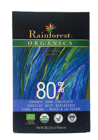 Certified Organic Peruvian Chocolate Bar - 80% Cacao - Organic Rainforest Company