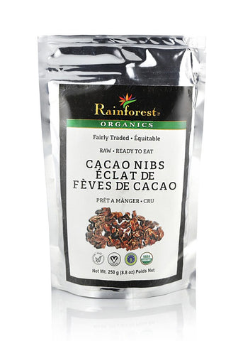 Cacao Nibs - 250 grams - Organic Rainforest Company