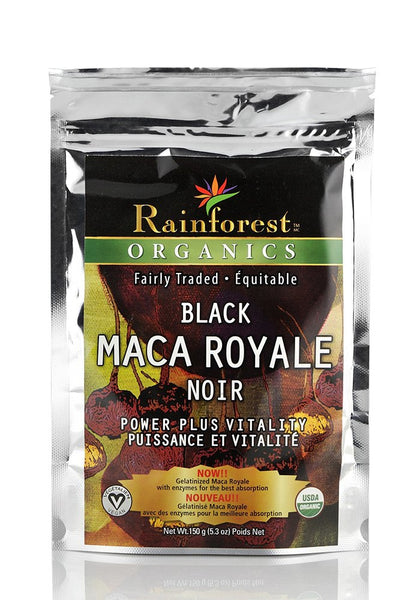 Organic Maca Powder - Black - Gelatinized - 150 g - Organic Rainforest Company