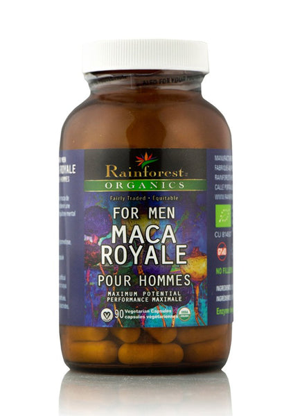 Organic Maca Powder - Royale For Men - Gelatinized - 227 g (90 Capsules) - Organic Rainforest Company