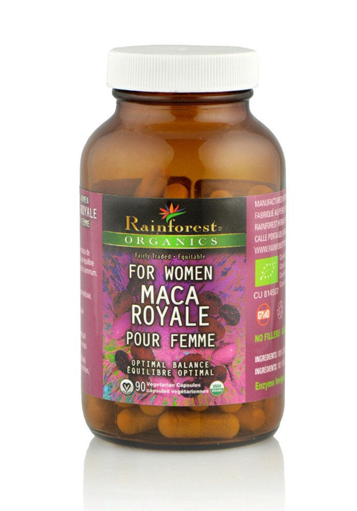 Organic Maca Powder - Royale For Women - Gelatinized - 227 g (90 Capsules) - Organic Rainforest Company