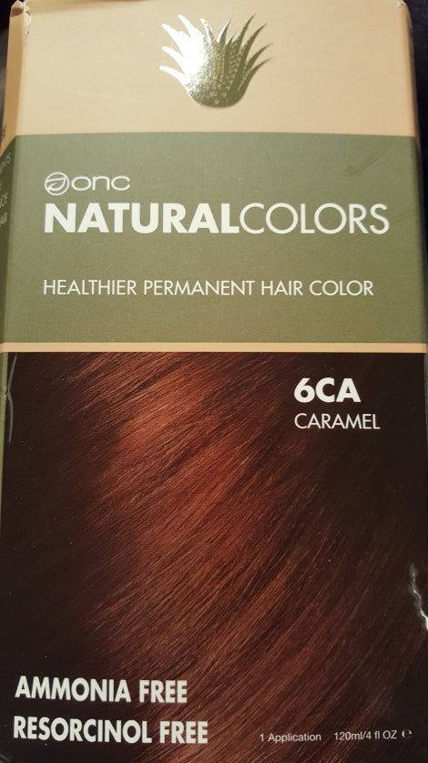 6CA CARAMEL HAIR DYE WITH ORGANIC INGREDIENTS 120 ML / 4 FL. OZ. Box Color
