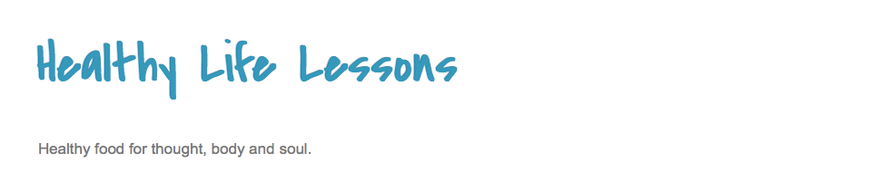 Healthy Life Lessons Blog Logo