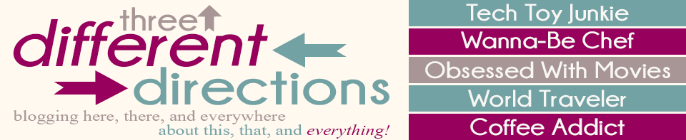 Three Different Directions Blog Logo