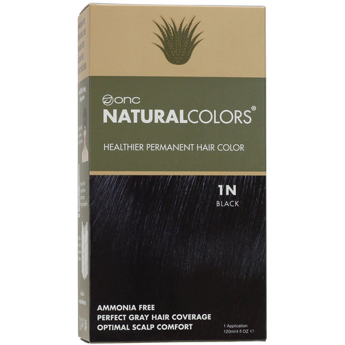 ONC NATURALCOLORS 1N Natural Black Hair Dye With Organic Ingredients 120 mL / 4 fl. oz.