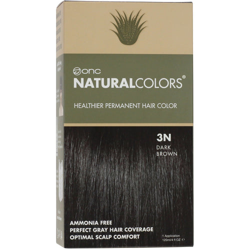 ONC NATURALCOLORS 3N Natural Dark Brown Hair Dye With Organic Ingredients 120 mL / 4 fl. oz.