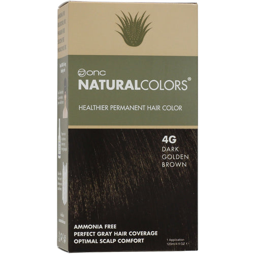 ONC NATURALCOLORS 4G Dark Golden Brown Hair Dye With Organic Ingredients 120 mL / 4 fl. oz.