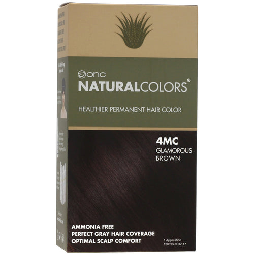 ONC NATURALCOLORS 4MC Glamorous Brown Hair Dye With Organic Ingredients 120 mL / 4 fl. oz.