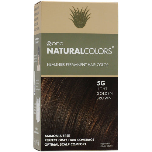 ONC NATURALCOLORS 5G Light Golden Brown Hair Dye With Organic Ingredients 120 mL / 4 fl. oz.