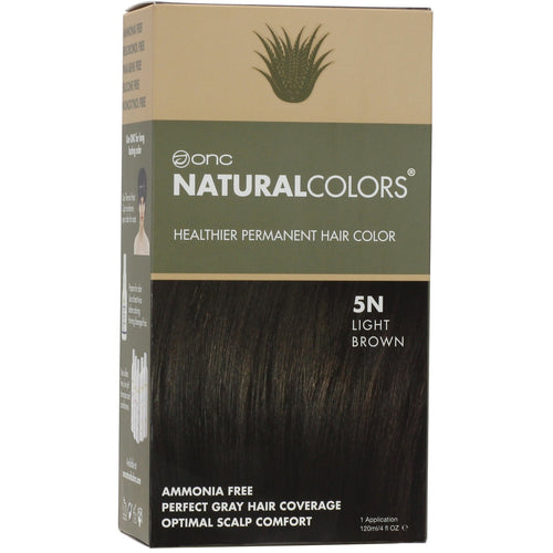 ONC NATURALCOLORS 5N Natural Light Brown Hair Dye With Organic Ingredients 120 mL / 4 fl. oz.