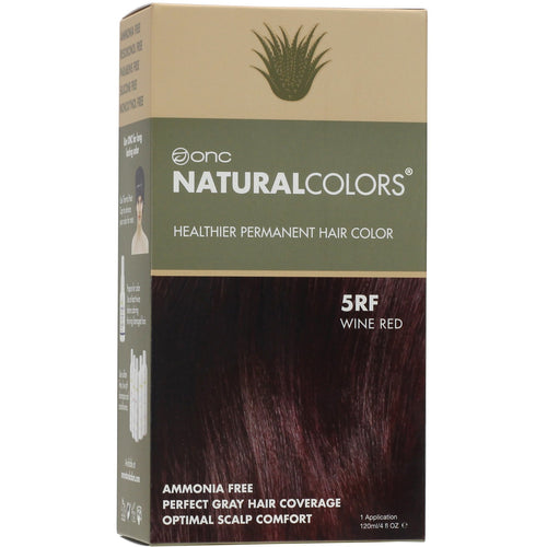 ONC NATURALCOLORS 5RF Wine Red Hair Dye With Organic Ingredients 120 mL / 4 fl. oz.