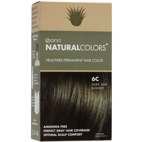 ONC NATURALCOLORS 6C Dark Ash Blonde Hair Dye With Organic Ingredients 120 mL / 4 fl. oz.