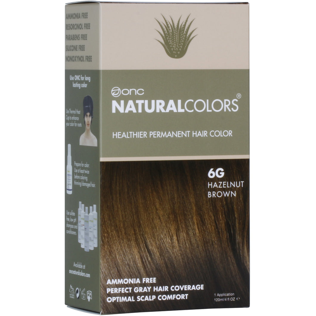 6G Hazelnut Brown Hair Dye With Organic Ingredients 120 mL / 4 fl. oz.