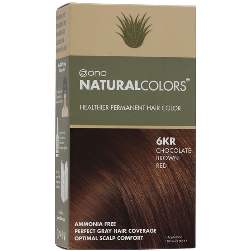 ONC NATURALCOLORS 6KR Chocolate Brown Red Hair Dye With Organic Ingredients 120 mL / 4 fl. oz.