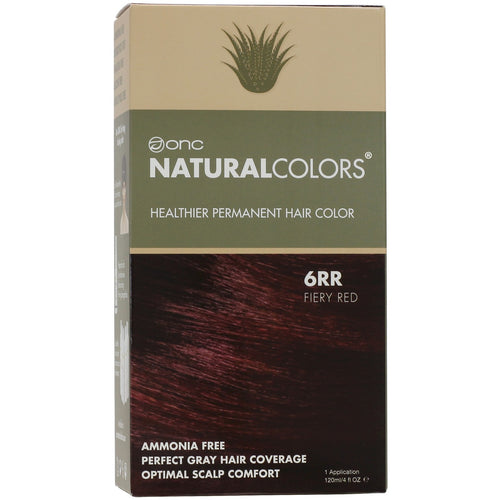 ONC NATURALCOLORS 6RR Fiery Red Hair Dye With Organic Ingredients 120 mL / 4 fl. oz.