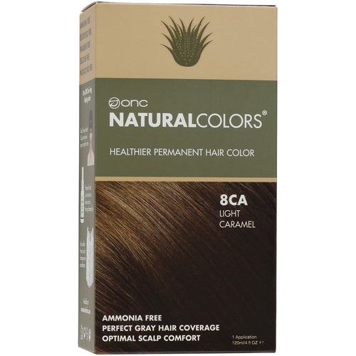 ONC NATURALCOLORS 8CA Light Caramel Hair Dye With Organic Ingredients 120 mL / 4 fl. oz.
