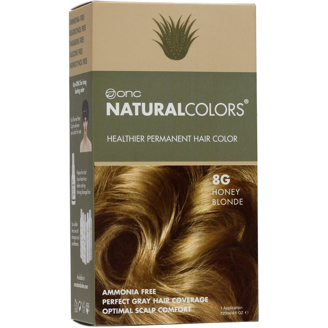 ONC NATURALCOLORS 8G Honey Blonde Hair Dye With Organic Ingredients 120 mL / 4 fl. oz.
