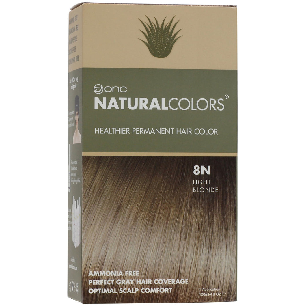 ONC NATURALCOLORS 8N Natural Light Blonde Hair Dye With Organic Ingredients 120 mL / 4 fl. oz.