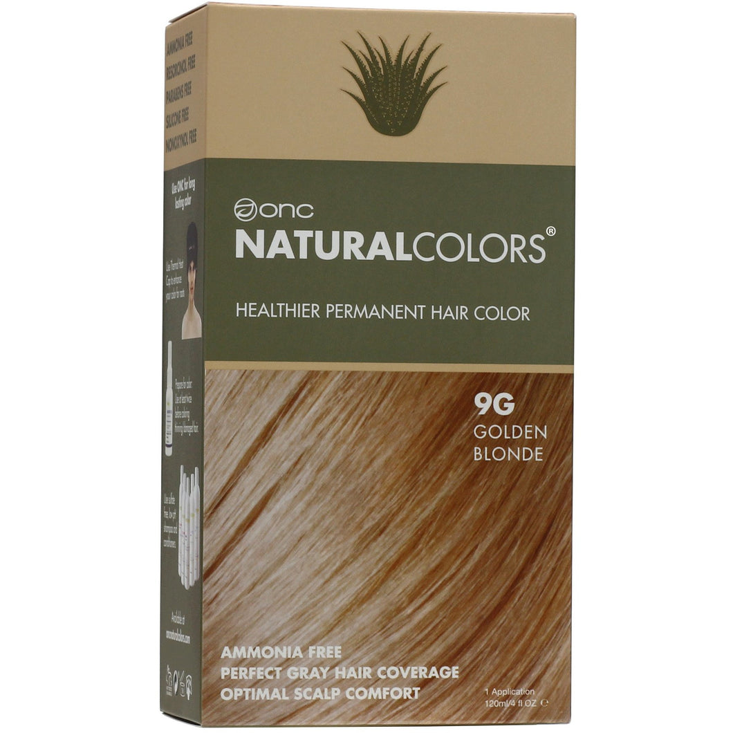 ONC NATURALCOLORS 9G Golden Blonde Hair Dye With Organic Ingredients 120 mL / 4 fl. oz.