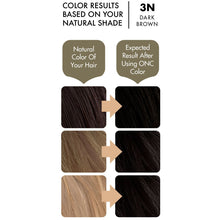 Load image into Gallery viewer, ONC 3N Natural Dark Brown Hair Dye With Organic Ingredients 120 mL / 4 fl. oz. Color Result