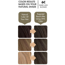 Load image into Gallery viewer, ONC 6C Dark Ash Blonde Hair Dye With Organic Ingredients 120 mL / 4 fl. oz. Color Results
