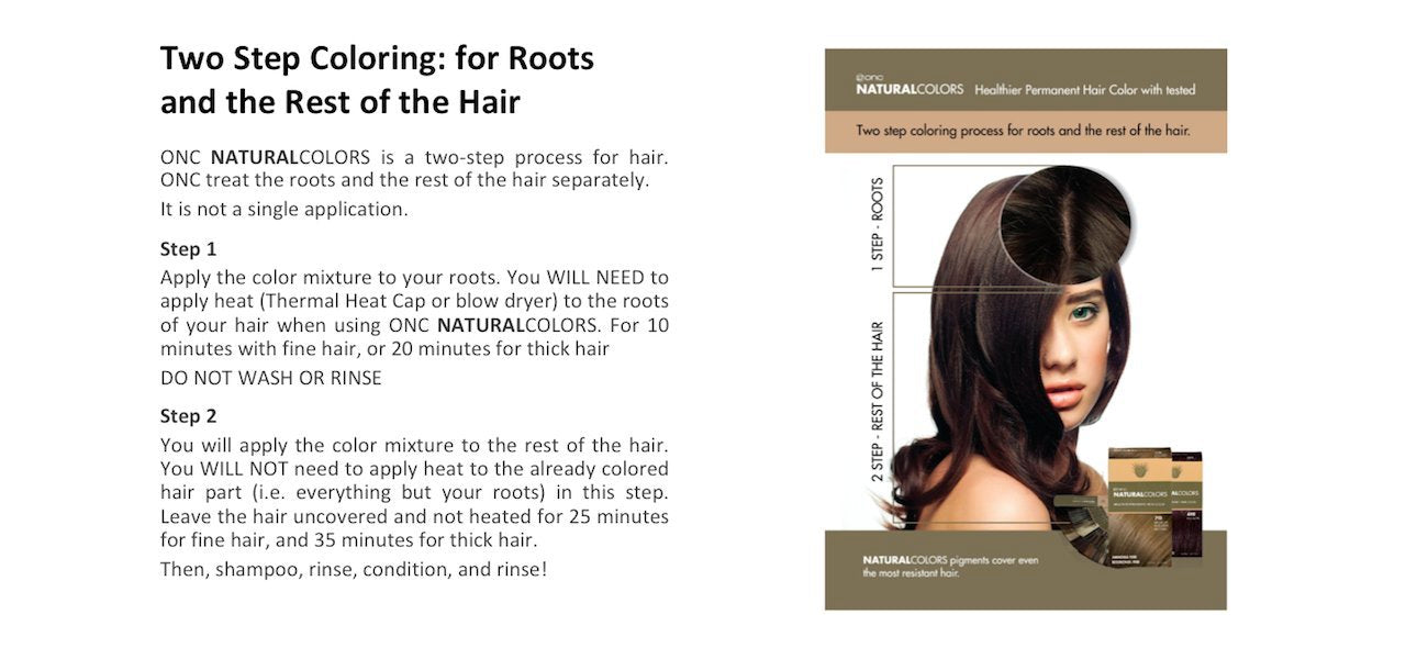 ONC NATURALCOLORS Two Step Coloring: for Roots and the Rest of the Hair