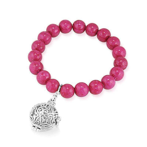 Bead Perfumed Bracelet - Enchanted Silver
