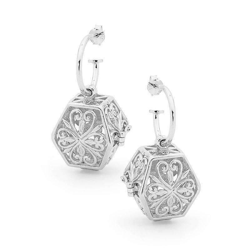 Silver Earrings, Eternity Perfumed Jewelry