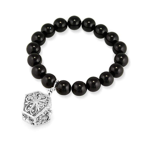 Bead Perfumed Bracelet - Eternity Silver