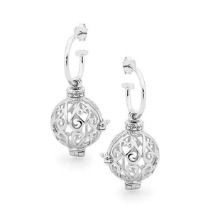 Load image into Gallery viewer, Silver Earrings, Harmony Perfumed Jewelry