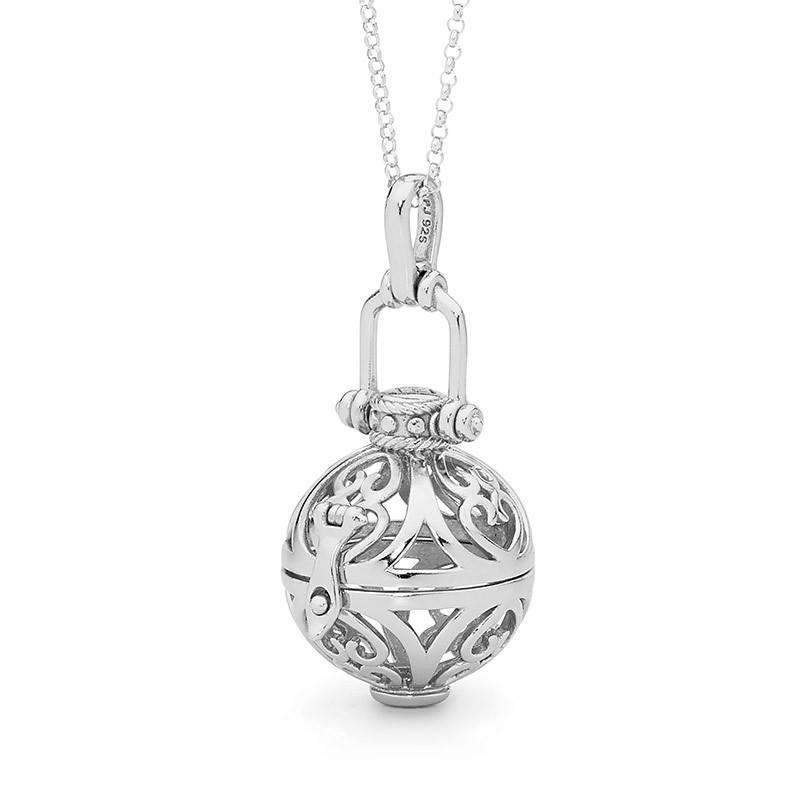 Load image into Gallery viewer, Silver necklace, Prosperity Perfumed Jewelry