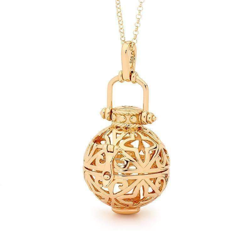 Enchanted Gold Necklace - Perfumed Jewelry