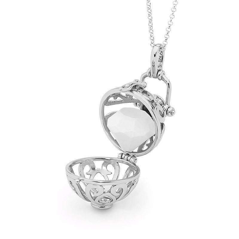 Silver heart Necklace, Harmony Perfumed Jewelry