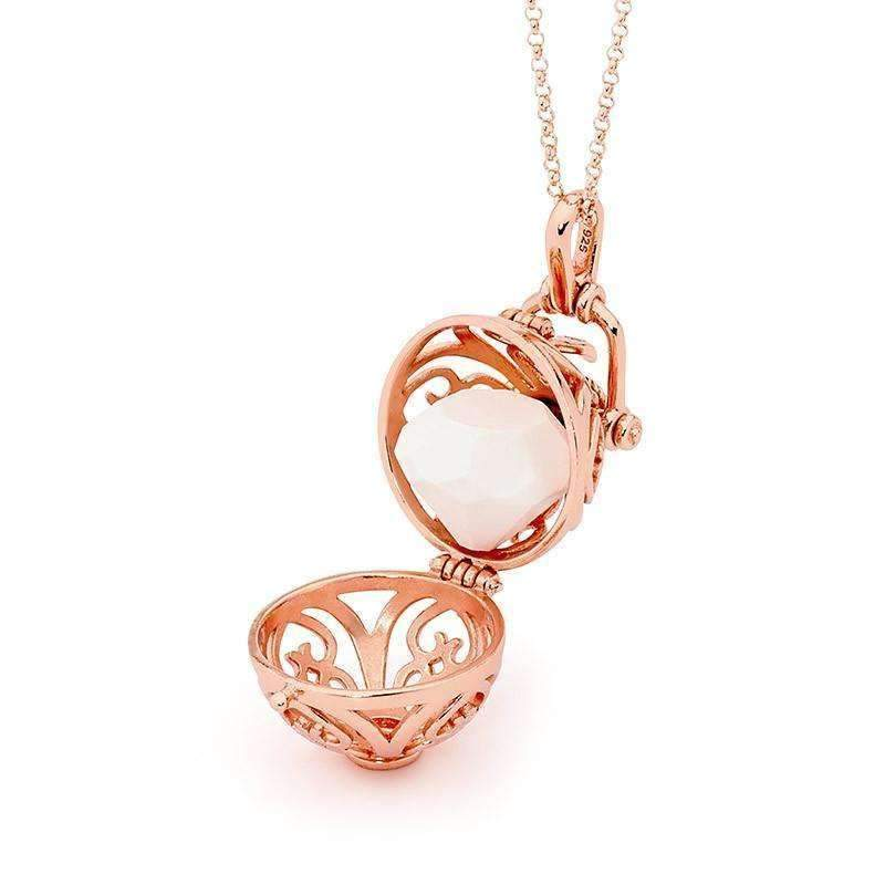 Perfumed Jewelry Prosperity Rose Gold Pendant