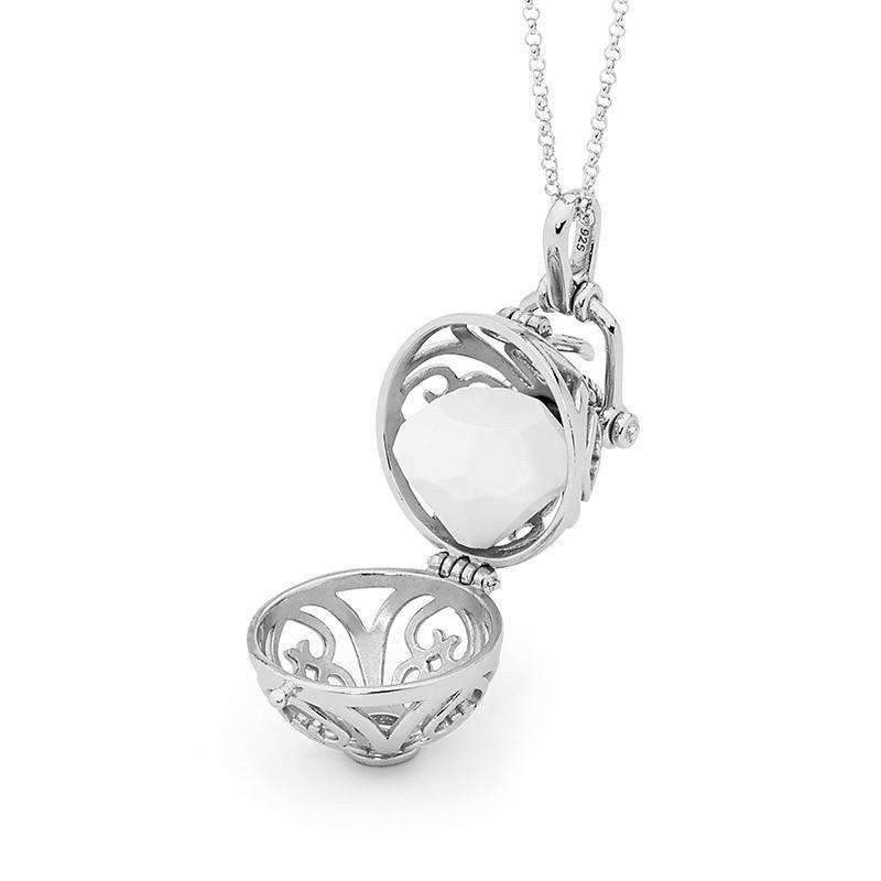 Silver necklace, Prosperity Perfumed Jewelry