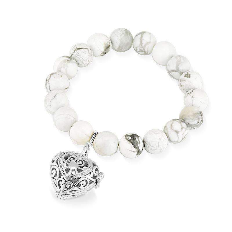 Load image into Gallery viewer, White Turquoise Bracelet