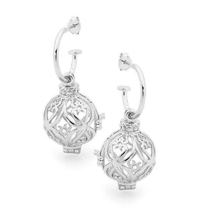 Silver Earrings, Prosperity Perfumed Jewelry