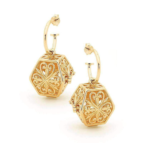 Gold Eternity Perfumed Jewelry Earrings