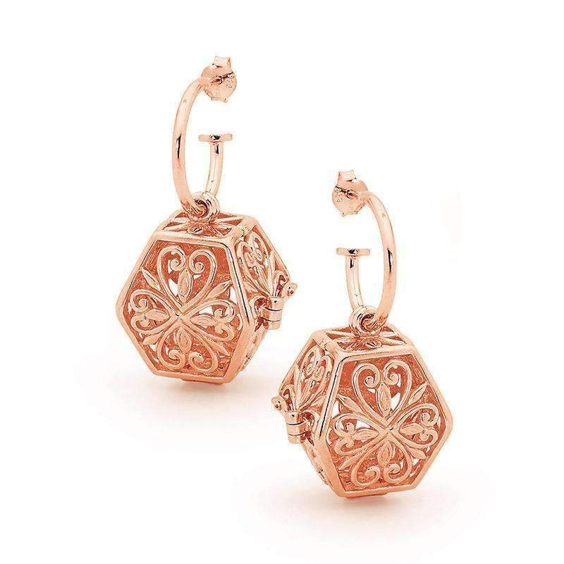 Load image into Gallery viewer, Rose Gold Eternity Perfumed Earrings