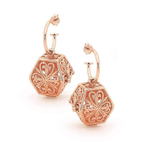 Rose Gold Eternity Perfumed Earrings