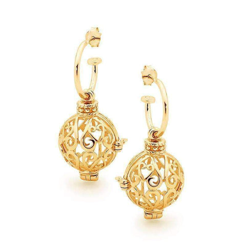 Gold Harmony Perfumed Jewelry Earrings