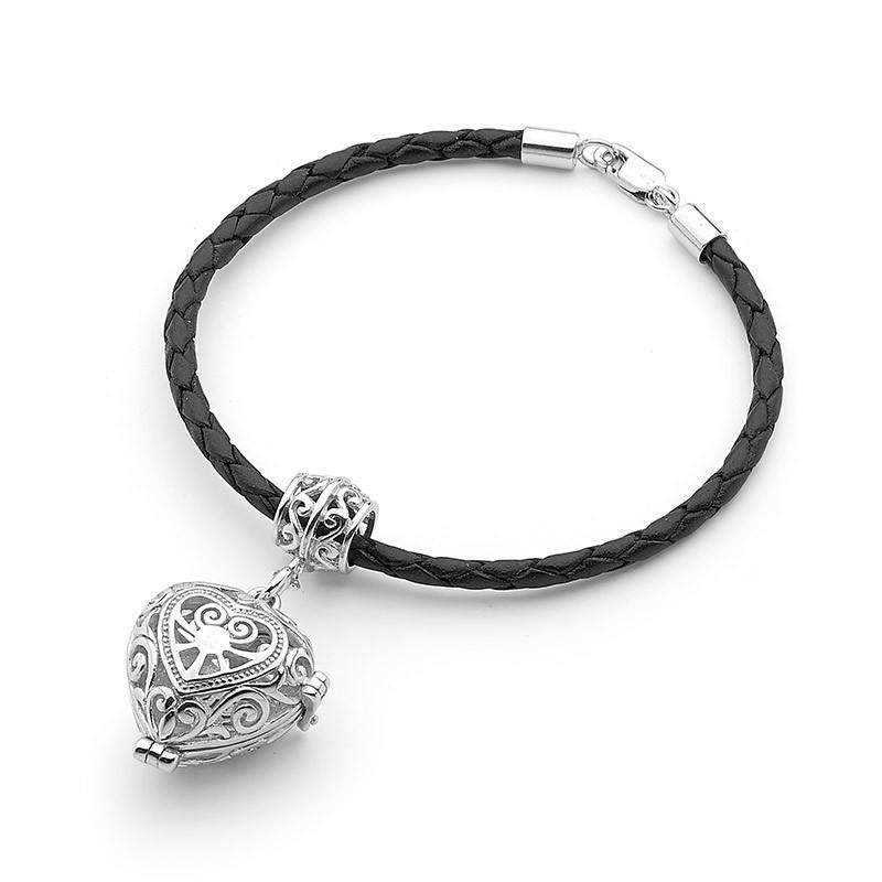 Silver Bracelet, Heart, Passion Perfumed Jewelry