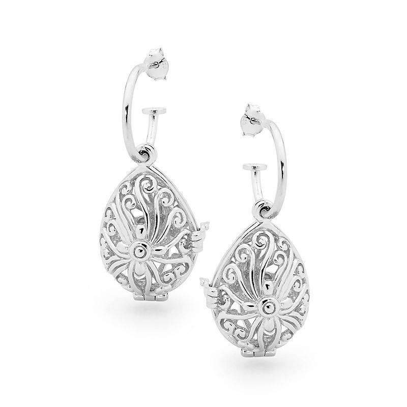Silver Earrings, Tranquility Perfumed Jewelry