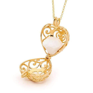 Load image into Gallery viewer, Passion Gold Heart Necklace - Perfumed Jewelry